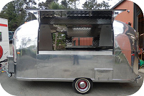 Side View of Satellite Coffee Trailer