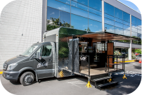 Side View of McCafe Van Open For Business